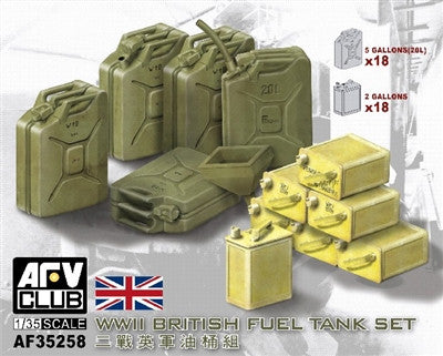 AFV Club Military 1/35 WWII British Fuel Tank Set Kit