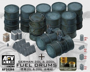 AFV Club Military 1/35 German 20L & 200I Fuel Drums Kit