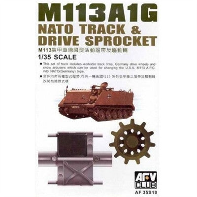 AFV Club Military 1/35 M113A1G NATO Track & Drive Sprocket Set Kit