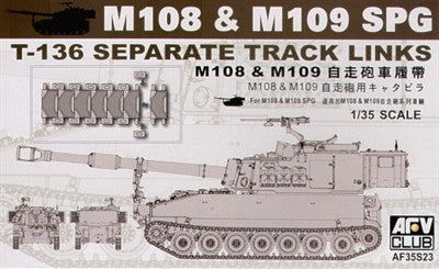AFV Club Military 1/35 US M108 & M109 SPG T136 Separate Track Links Kit