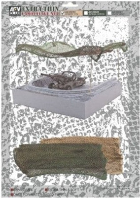 AFV Club Military 1/35 Die Cut Camouflage Net Snow Grey