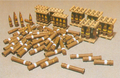 AFV Club Military 1/35 155/203mm Howitzer Ammo & Stowage Case (Brass) Kit
