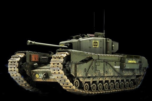 AFV Club Military 1/35 British Churchill Mk III Infantry Tank w/Ordance QF 75mm Mk V Gun Kit