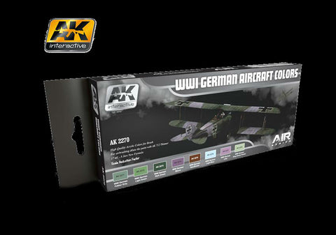 AK Interactive Air Series: WWI German Aircraft Colors Acrylic Paint Set (8 Colors) 17ml Bottles