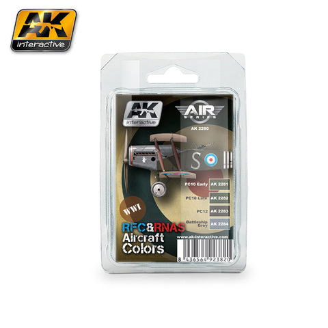 AK Interactive Air Series: WWI RFC & RNAS Aircraft Colors Acrylic Paint Set (4 Colors) 17ml Bottles