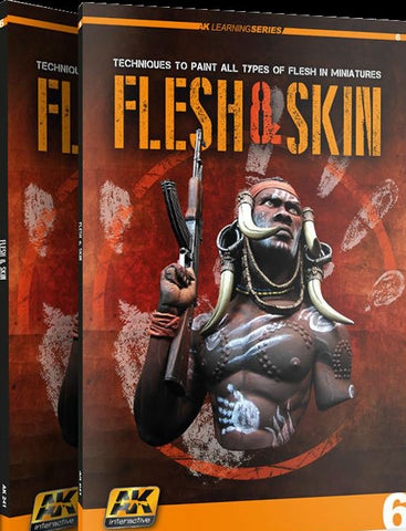 AK Interactive Flesh & Skin Techniques for Painting Miniatures Book