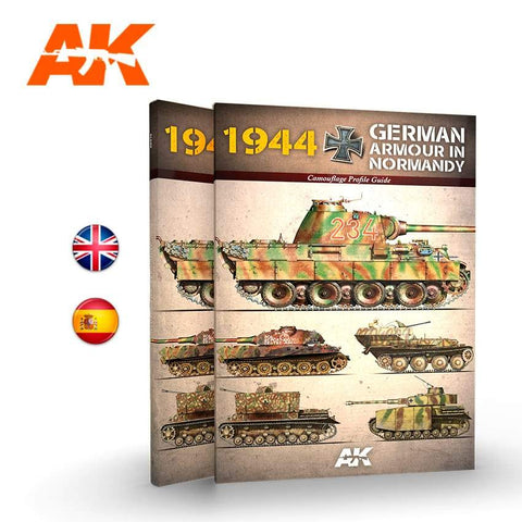 AK Interactive Books - 1944 German Armor in Normandy Camouflage Profile Guide Book