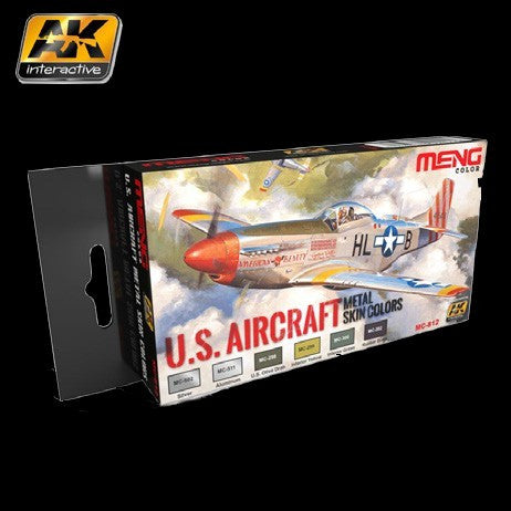 AK Interactive US Aircraft Metal Skin Colors Acrylic Paint Set (6 Colors) 17ml Bottles