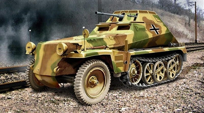 Ace Military Models 1/72 German SdKfz 250/9 Halftrack Kit