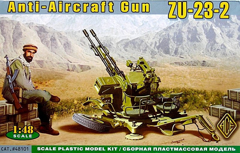 Ace Military 1/48 ZU23-2 Anti-Aircraft Gun Kit