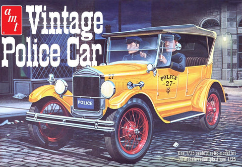 AMT Model Cars 1/25 1927 Ford T Vintage Police Car Kit