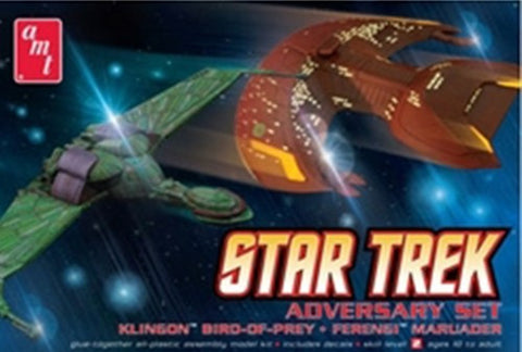 AMT Sci-Fi Models 1/537 Star Trek Adversary Set: Klingon Bird of Prey & Ferengi Marauder Kit
