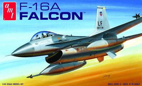 AMT Aircraft Models 1/48 F16A Falcon Fighter Kit
