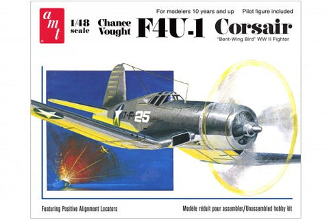 AMT Aircraft Models 1/48 F4U1 Corsair Bent-Wing Bird WWII Fighter Kit