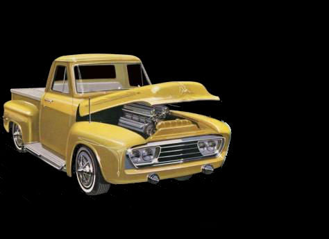 AMT Model Cars 1/25 1953 Ford Pickup Truck (3'n1) Kit