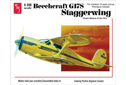 AMT Aircraft Models 1/48 Beechcraft G17S Staggerwing BiPlane Aircraft Kit