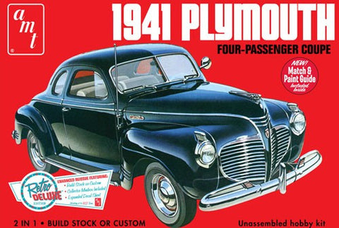 AMT Model Cars 1/25 1941 Plymouth 4-Passenger Coupe Car Kit