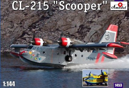 A Model From Russia 1/144 CL215 Scooper Firefighting Amphibious Aircraft Kit