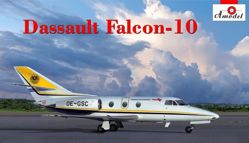 A Model From Russia 1/72 Dassault Falcon 10 Early Corporate Jet Aircraft Kit