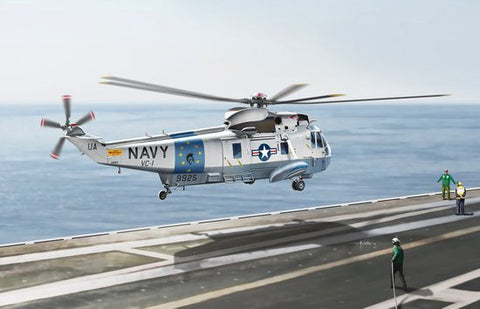 Cyber-Hobby Aircraft 1/72 Sea King SH3G USN Utility Transport Helicopter Smart Kit