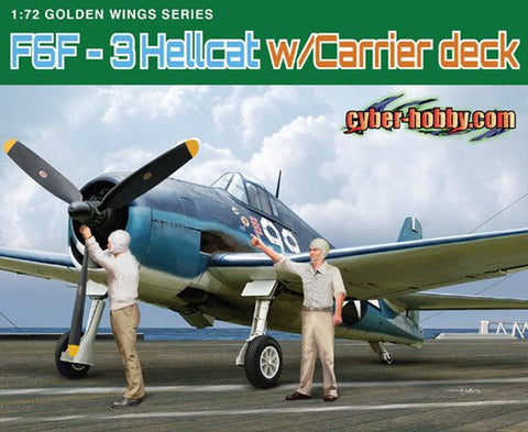 Cyber-Hobby Aircraft 1/72 F6F3 Hellcat Fighter w/Carrier Deck Section Kit