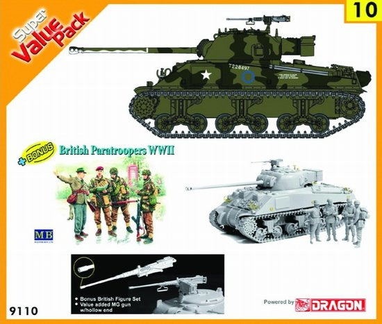 Cyber-Hobby Military 1/35 Firefly Vc Tank w/British Paratroopers Kit