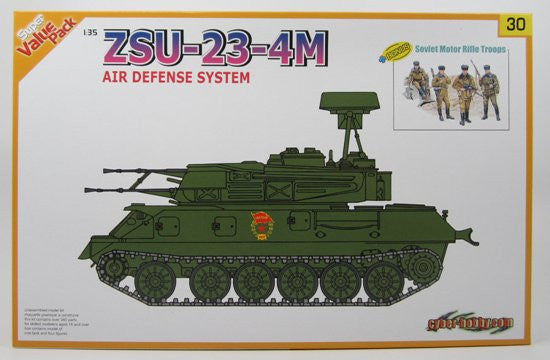 Cyber-Hobby Military 1/35 ZSU23-4M Air Defense System w/Motor Rifle TroopsKit