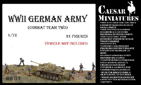 Caesar Miniatures 1/72 WWII German Army Combat Team Two