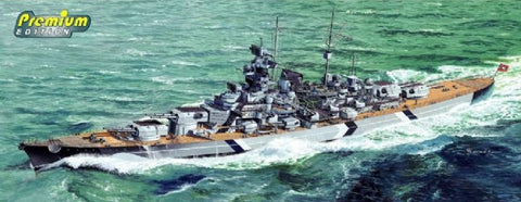Dragon Model Ships 1/700 German Bismarck Battleship Kit TOS