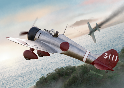 Clear Prop 1/72 A5M2b Claude Late Version Japanese Fighter (Advanced) Kit
