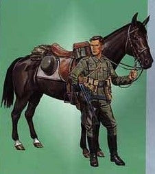 Dragon Military 1/16 German Wehrmacht Cavalry Soldier w/Horse Kit