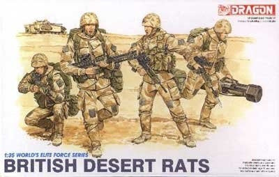 Dragon Military 1/35 British Desert Rats (4) Kit