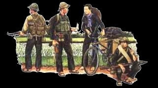 Dragon Military 1/35 Viet Cong Soldiers (4) & Bicycle Kit