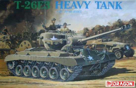 Dragon Military 1/35 T26E3 WWII Heavy Tank (Re-Issue) Kit
