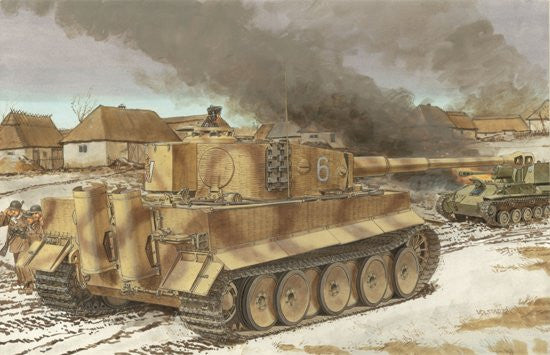 Dragon Military 1/35 SdKfz 181 PzKpfw VI Ausf E Tiger I Mid Production Tank w/Zimmerit Kit