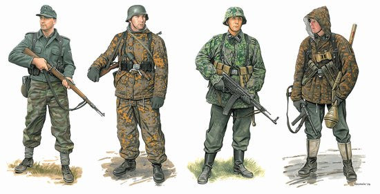 Dragon Military 1/35 German Waffen Grenadiers 1944-45 (4) Kit
