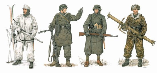 Dragon Military 1/35 German Winter Combatants 1943-45 (4) Kit