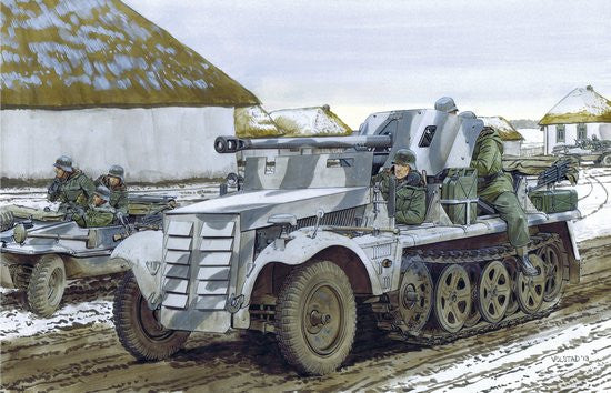 Dragon Military 1/35 Zugkraftwagen 1t w/5cm Pak 38 Gun Smart Kit