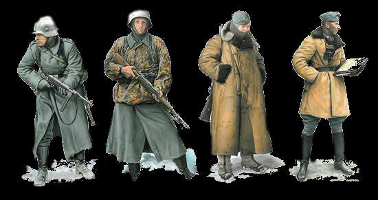 Dragon Military 1/35 German Soldiers Operation Typhoon 1941 (4) Kit