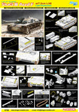 Dragon Military 1/35 StuG III Ausf F Tank w/7.5cm L/48 Gun Last Production Lit