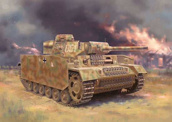 Dragon Military 1/35 PzKpfw III (FL) Ausf M Tank w/Side-Skirt Armor Kit