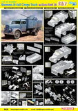 Dragon Military 1/35 German 3t 4x2 Truck w/2cm Flak 38 Gun (2 in 1) Kit