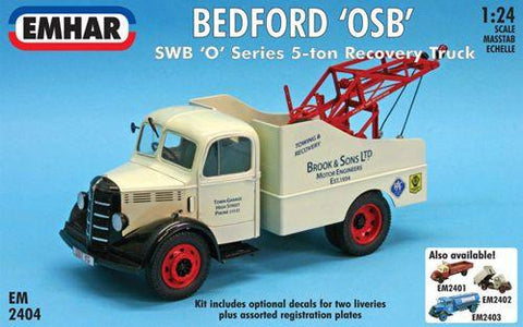 Emhar Military 1/24 Bedford OSB SWB O-Series 5-Ton Recovery Truck Kit