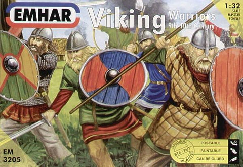 Emhar Military 1/32 9th-10th Century Viking Warriors (12) Kit