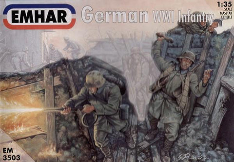 Emhar Military 1/35 WWI German Infantry (12) Kit