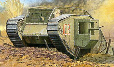 Emhar Military 1/35 WWI British Male Mk IV Tank Kit
