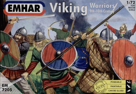 Emhar Military 1/72 9th-10th Century Viking Warriors (50) Kit