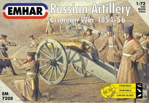Emhar Military 1/72 Crimean War 1854-56 Russian Artillery (27) w/3 Guns Kit