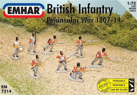 Emhar Military 1/72 Peninsular War 1807-14 British Infantry (48 & 1 Horse) Kit