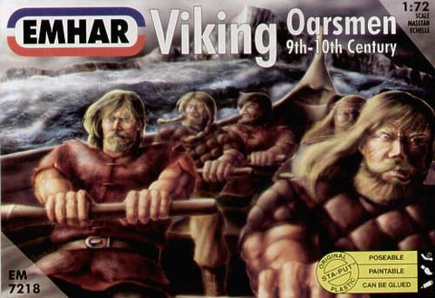 Emhar Military 1/72 9th-10th Century Viking Oarsmen Kit
